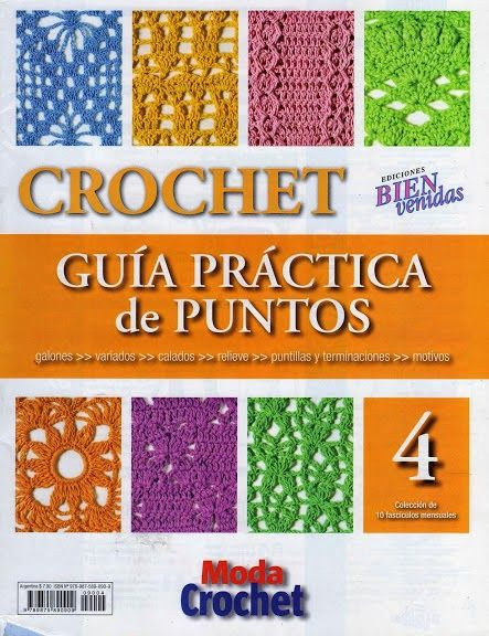 Revistas de crochet y tejidos gratis: Guía Práctica de puntos No4.