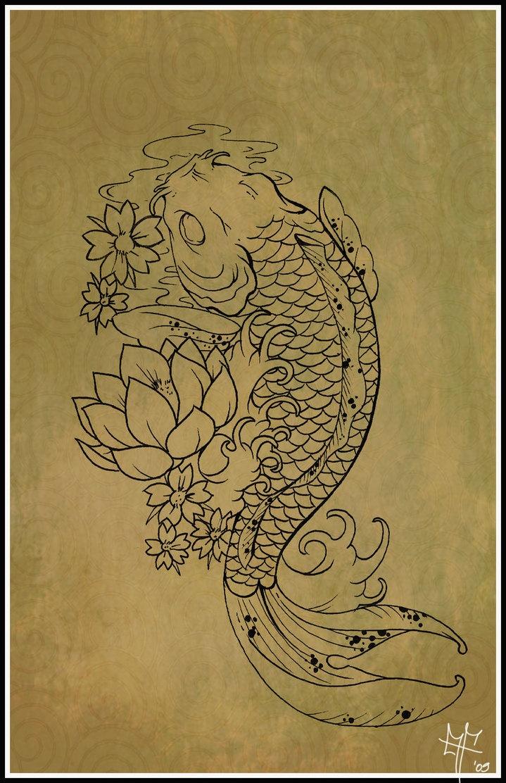 Koi Carp Tattoo by ~Dragodelbuio on deviantART