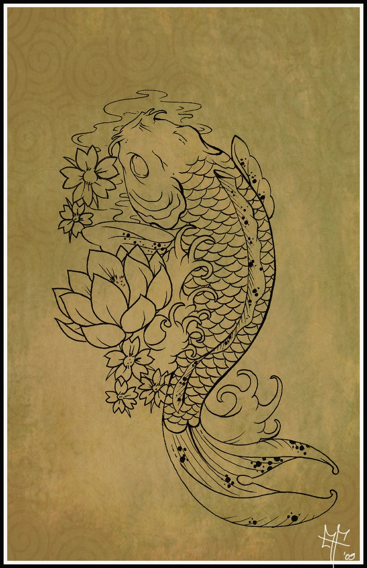 Koi carp tattoo by dragodelbuio on deviantart koi for Koi fish quotes