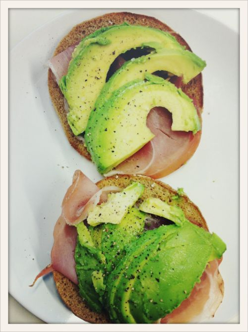 { talk about ideal breakfast - prosciutto and avocado on toast }