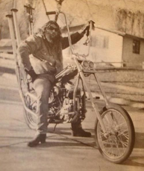 old school chopper- I remember these, they were very popular in the 70's