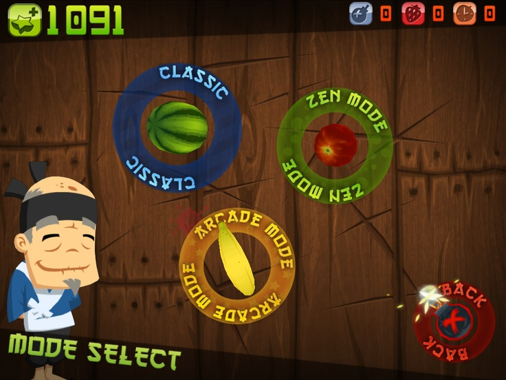 Fruit Ninja - the best swipe'n'cut touch game, second only to the inspired mini-game in Mortal Kombat 2012 on PS Vita