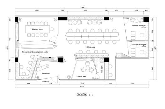 Paper Folding Space - ELLE Office,Floor Plan