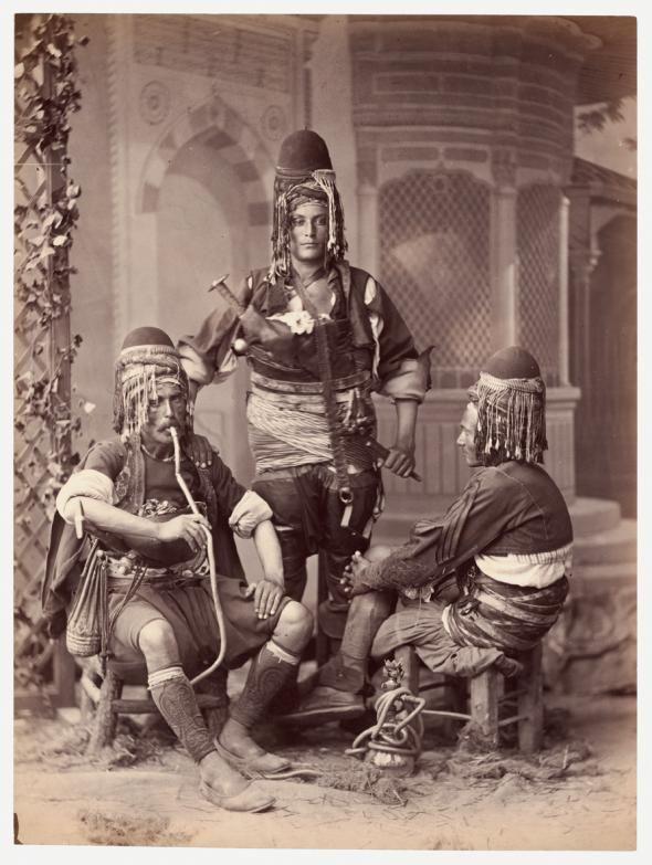 Bashi-bazouks  [soldados irregulares] zeibeck, Cáucaso, 1865  Abdullah Frères    © Colección Clark & Joan Worswick