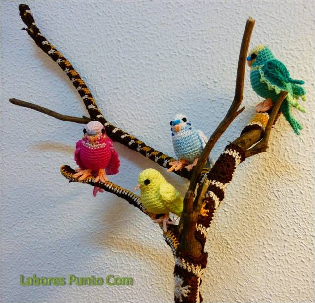 Amigurumi p jaro periquitos de ganchillo amigurumi bird - Cuadraditos de crochet ...