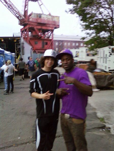 On the set of Step Up 3D workin.
