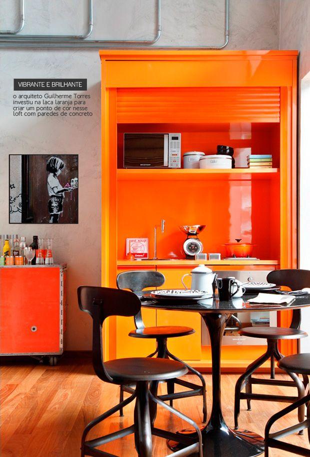 Bright orange kitchen #decor #colors #orange