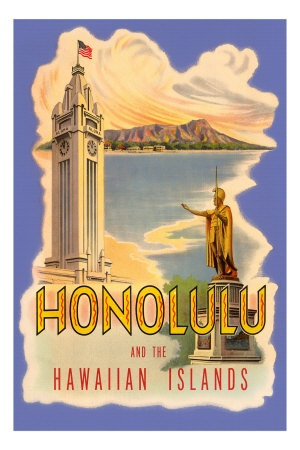 Vintage Hawaii Posters, Vintage Hawaiian Posters, Vintage Hawaii Decor