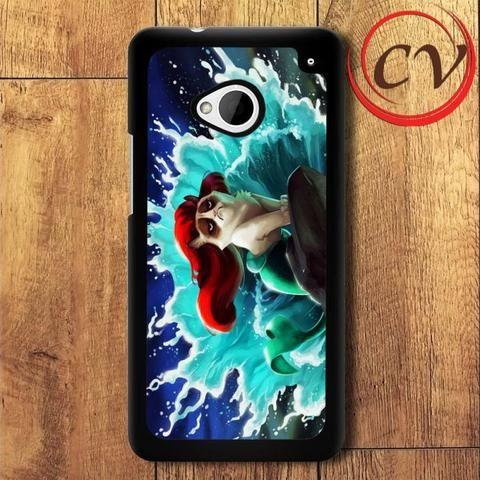 Little Mermaid Ariel HTC One M7 Black Case