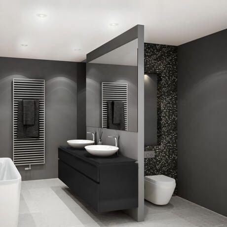 Complete badkamers Warmteservice heeft voor u complete badkamers samengesteld. De bestsellers uit ons assortiment hebben wij gecombineerd in badkamers van 3 verschillende afmetingen. Het sanitair is gekozen uit een selectie van A-merken, waaronder Villeroy & Boch, Sphinx, Grohe en Hansgrohe. We hebben voor u een aantal sferen gecreëerd met daarbij een bijpassend tegeladvies. Combineer het sanitair met tegelwerk naar uw eigen keuze en maak van uw badkamer een plek waar u zich kunt ontspannen.