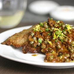 Veal Scaloppini with Shallot-Caper Sauce