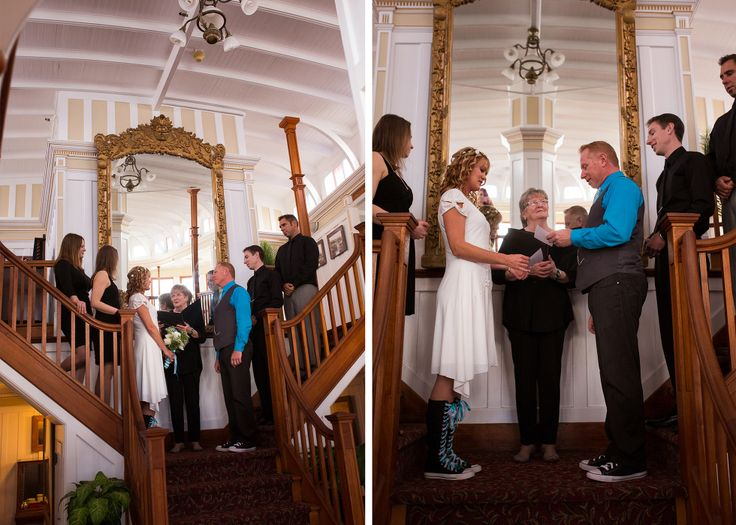 SS Sicamous Penticton Wedding: Pam & Greg » Ceremony on the Stairs