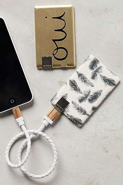 Anthropologie EU Power Card Portable Battery by Triple C.