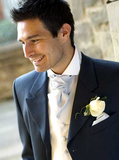 #groom white boutonniere ... For a Dress Code for Grooms ... https://itunes.apple.com/us/app/the-gold-wedding-planner/id498112599?ls=1=8 ♥ The Gold Wedding Planner iPhone App ♥