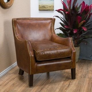Top Product Reviews for Tillo Top Grain Vintage Brown Leather Club Chair by Christopher Knight Home - Overstock.com