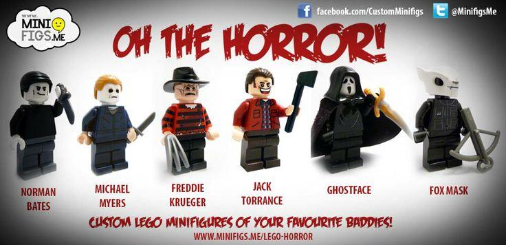 Custom LEGO horror film minifigures   Dear Santa ...