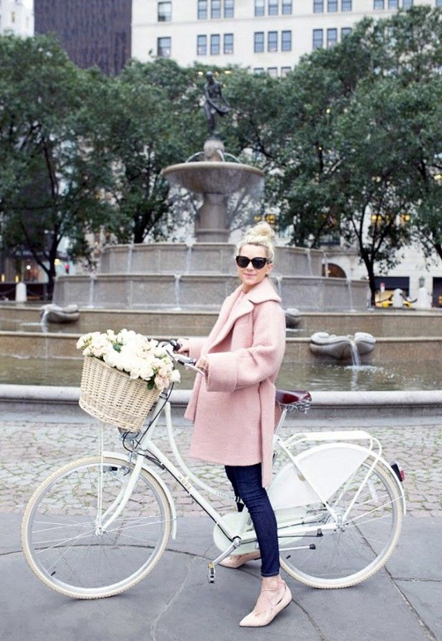 """""""Parisian style is about knowing proportions. I love how this voluminous coat plays off of more-fitted bottoms. It's all about the pieces that are easy to throw on yet still appear..."""