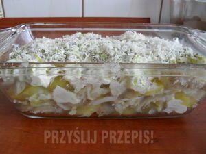 Zapiekanka z rybą, ziemniakami i sosem porowym - przyslijprzepis.pl