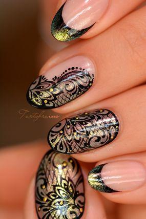 nail art dentelle mandala