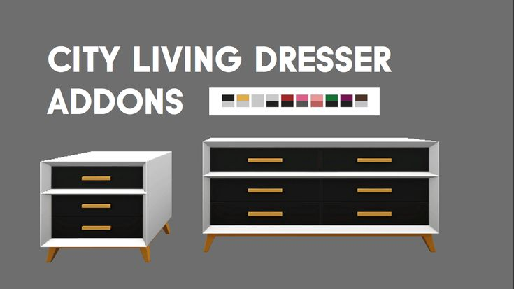 2 addons for the City Living dresser: A console table and an end table.
