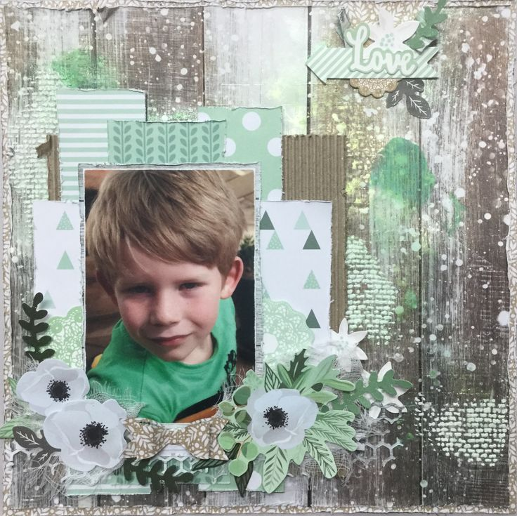 Mint Wishes Page Layout. Kaisercraft. Kylie Hughes. MakeApage Scrapbooking 2017