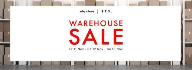 ETQ Warehouse Sale -- Amsterdam -- 11/11-13/11