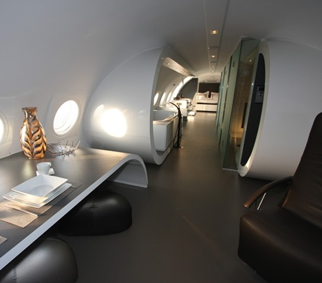 Cold war era plane converted into luxury hotel suite