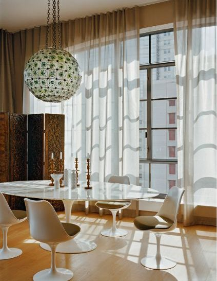 Saarinen Oval Tulip & White Marble   Table and chairs - Dining in Style... #interiordesign #design
