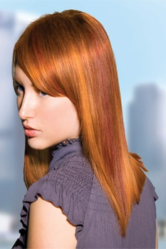 Example hairstyles from Jenniffer & Co. stylist's from both our salons.  My hair!  I love red!!