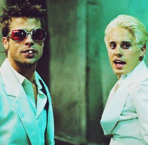 JARED LETO and BRAD PITT - ''FIGHT CLUB'' everything's a copy of a copy of a copy