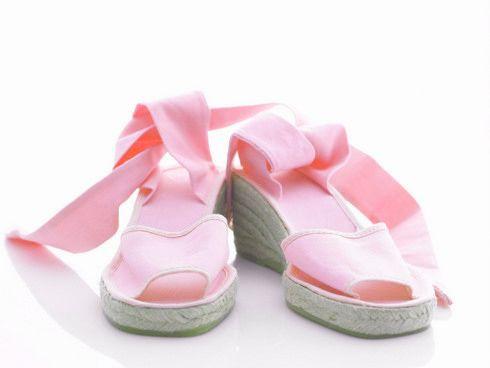 Pink wedge heel espadrille ropeysoles.com