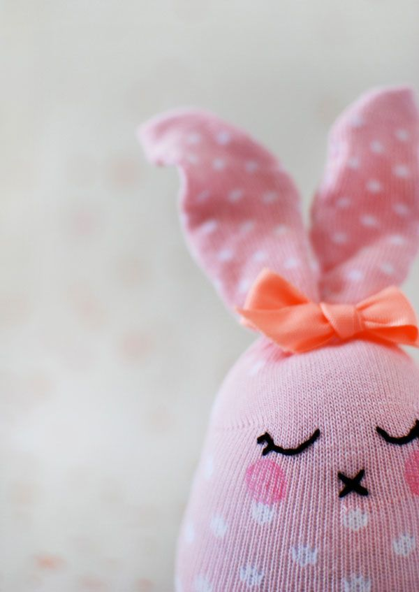 DIY Easter Bunny Softies From Socks - Step-by-Step Tutorial