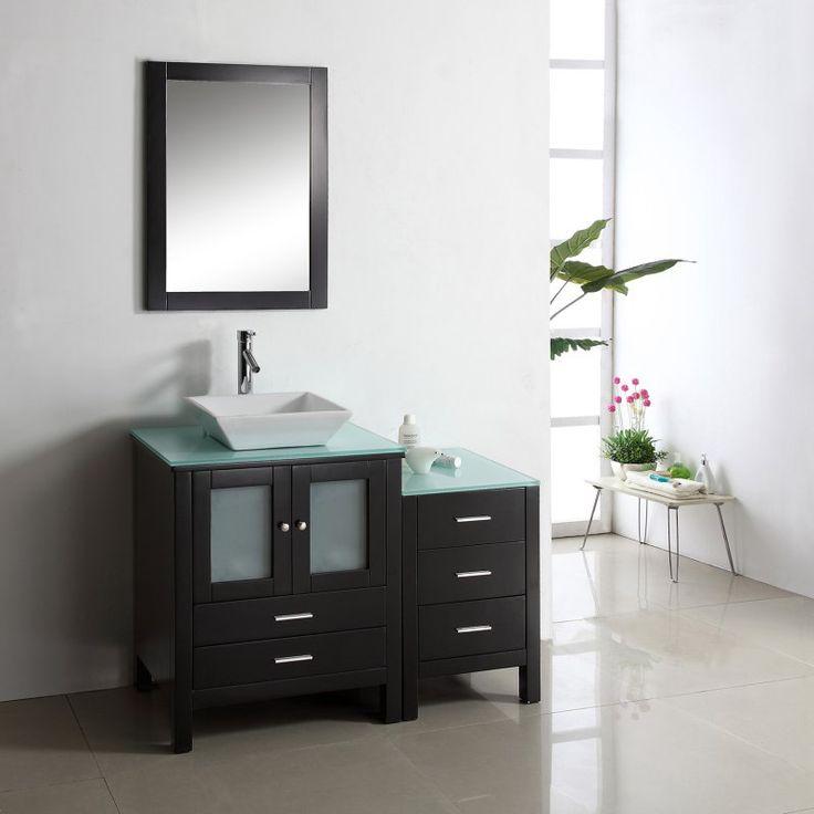 Virtu USA Brentford 46 in. Single Bathroom Vanity - MS-4446-G-ES-001