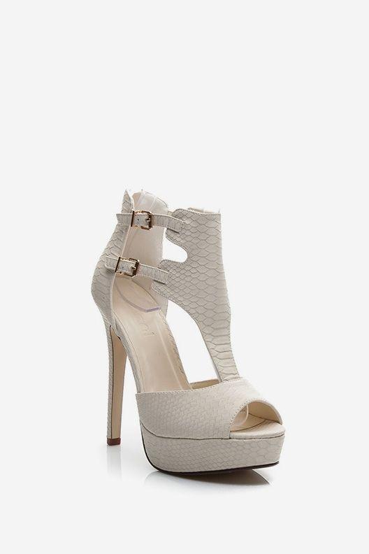 Sandały na szpilce Jennifer białe