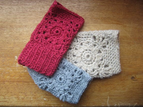 Adorable kid crochet hand warmers in an assortment of colours and sizes