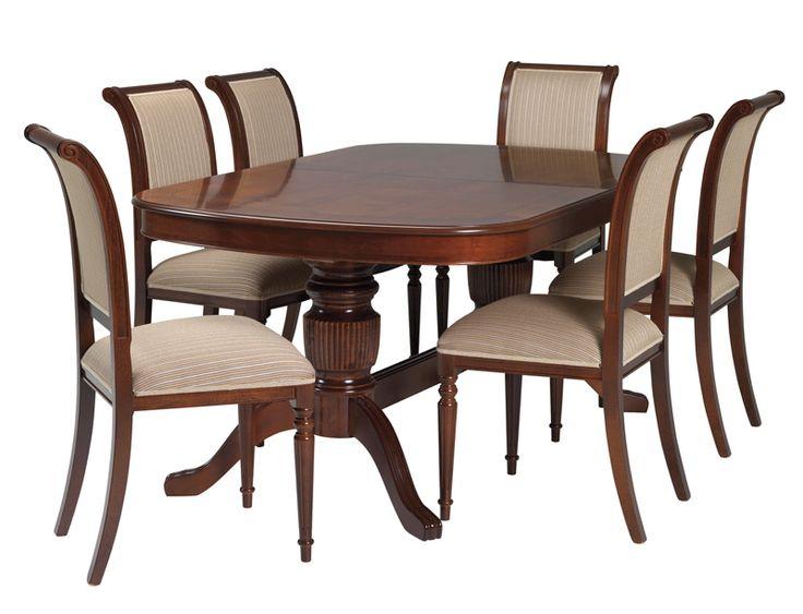 Mozart spisestueBord + 6 stoler,  valnøtt.