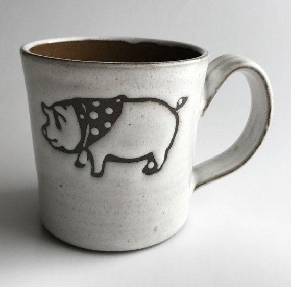 Two Pigs Mug by Kandace Lockwood by KandaceLockwood on Etsy