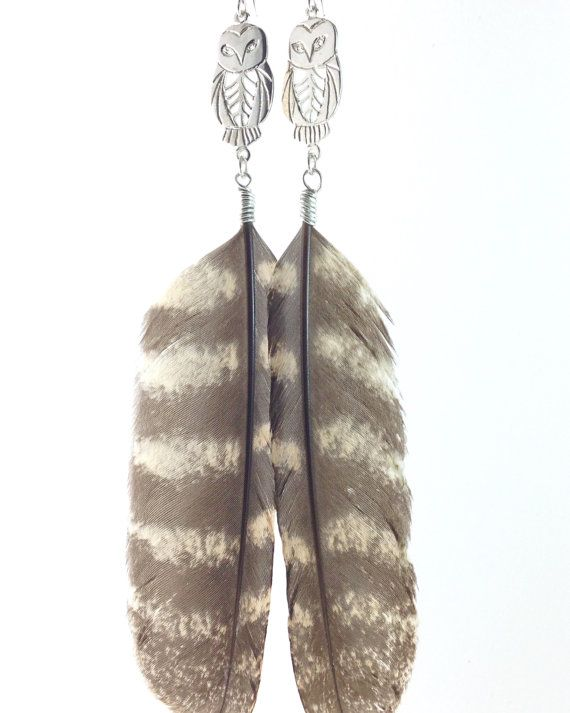 Silver Owl and Tawny frogmouth owl feather by MapleflyDesign