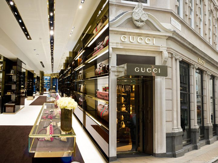 19 best gucci retail images on pinterest gucci shops for Retail interior design agency london