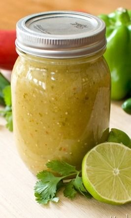 Canning Cilantro Lime Green Enchilada Sauce