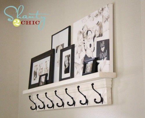 DIY Shelf with Hooks - Top 20 Easy DIY Shelves