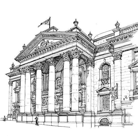 The line art I did for the Theatre Royal, Newcastle upon Tyne... . . . . .#inkandpen #architecturaldrawing #architectural #urbansketching #urbansketchers #buildingdrawing #linedrawings #facades #newcastleupontyne #northeastengland #theatreroyal #listedbuilding #greekcolumns #architecture #detaildrawing #artcrowds #sketchbookx #sketchbook #sketch_daily #artists #featuring_art #arts_gallery #artistic_unity  #originalartwork #architecturalsketch #artfido #alvindrafting #fineliner #ar_sketch
