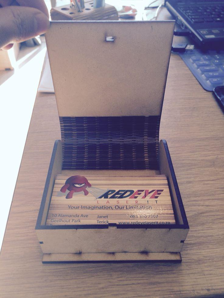 Laser cut business card Holder