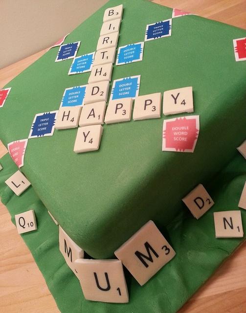 Birthday Scrabble Cake by Heaven's Bakery, via Flickr