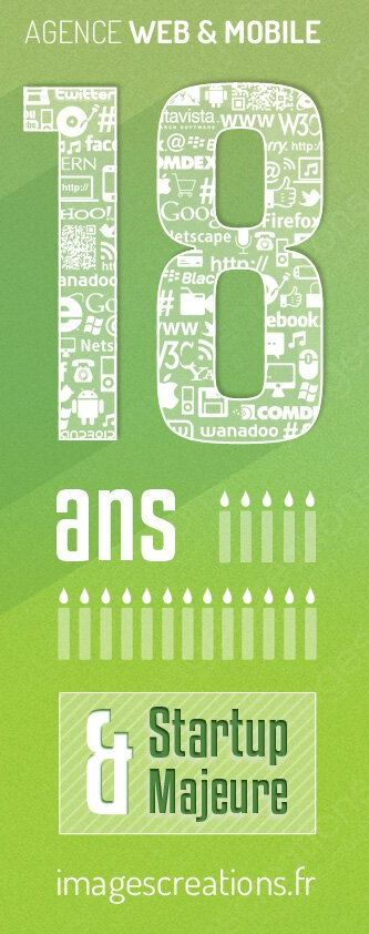 L'agence a 18 ans ! Agence Web & Mobile depuis 1995 | www.imagescreations.fr