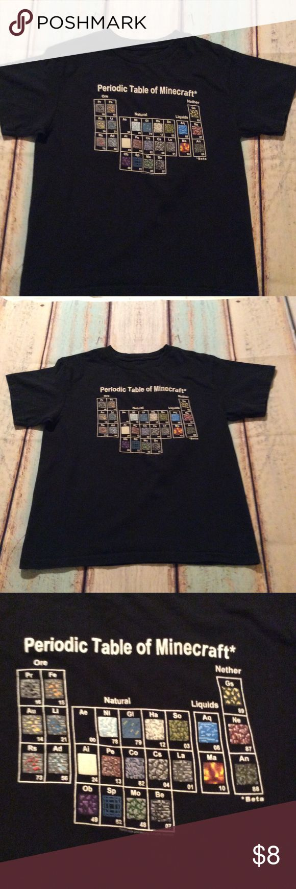 The 25 best colored periodic table ideas on pinterest elements boys minecraftt shirt boys minecraftt shirt periodic table of minecraft gamestrikefo Choice Image