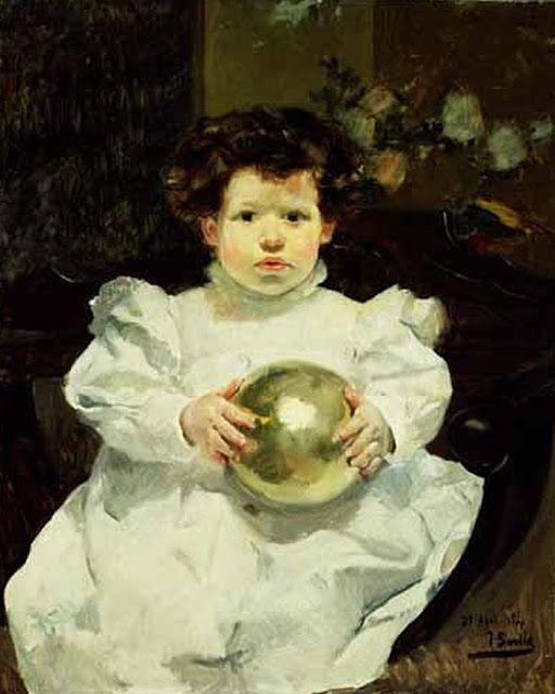 JOAQUÍN SOROLLA: Joaquín con una bola