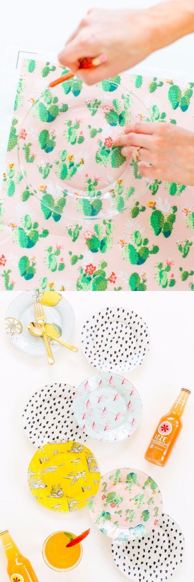 Decoupage para decorar platos - petitecandela.blogspot.es