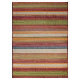 Carpet Art Deco Sunshine Multicolor Rectangular Indoor/Outdoor Woven Tropical Area Rug (Common: 8 x 10; Actual: 92-in W x 124-in L)