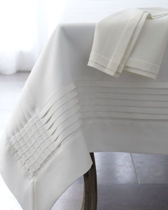 Awesome, I'd use this every Sunday for family brunch. #HORCHOW. Multi-Pleated Table Linens at Horchow.